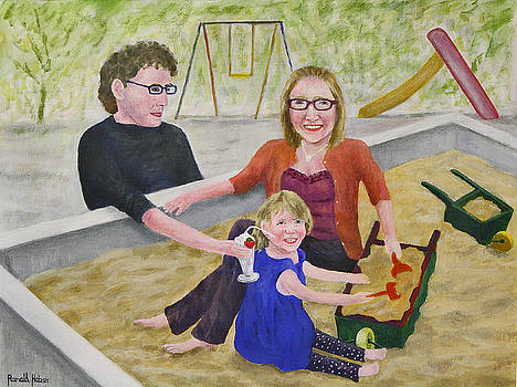 Sienna in the Sandpit by Ronald Haber