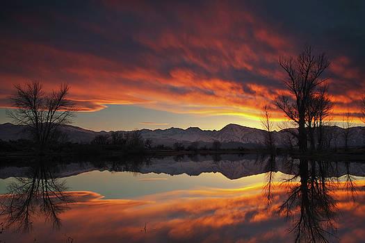 Sierra Reflection Sunset by Nolan Nitschke