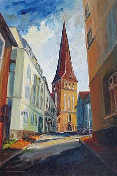 Siesta In Rostock's Eastern Historic District by Barbara Pommerenke
