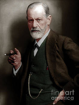 Wingsdomain Art and Photography - Sigmund Freud Colorized 20170520