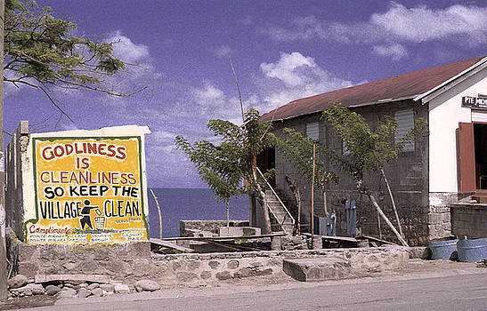 Sign In Dominica  by Richard Nickson