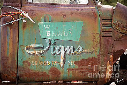 Sign on Old Truck by Alana Ranney