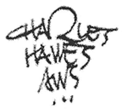 Signature by Charles Hawes