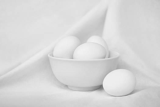 Nikolyn McDonald - Silence - Eggs and Bowl - Still Life - Black and White