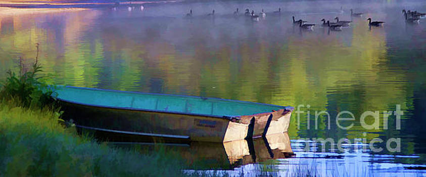 Chuck Kuhn - Silence Pond Boat Geese