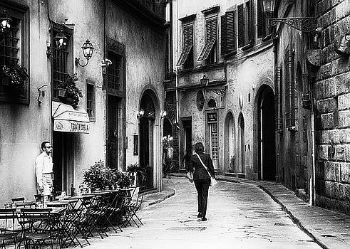 Silent moment Florence - impressionist street photography by Frank Andree