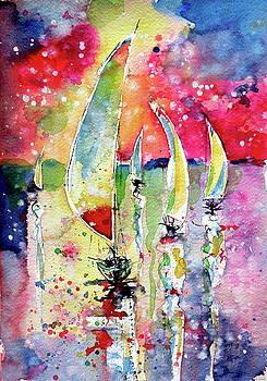 Silent sailboats by Kovacs Anna Brigitta