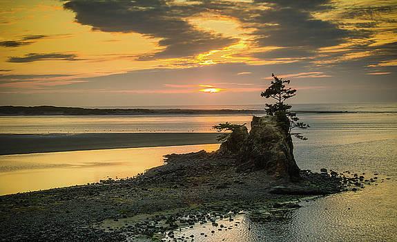 Siletz Bay Sunset by Don Schwartz