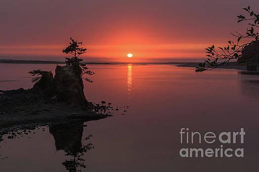 Siletz Bay Sunset by Tim Moore