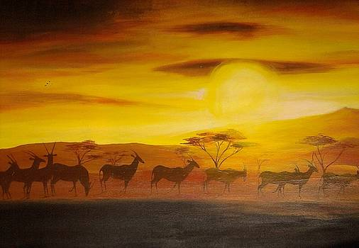 Silhouette Africa by Evans Yegon