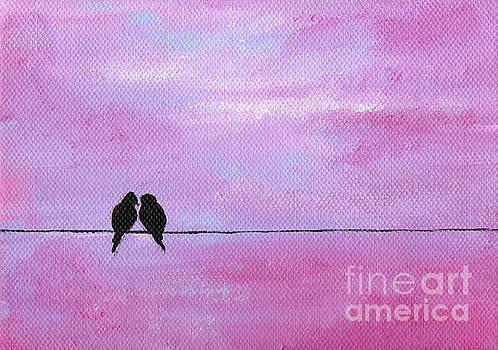 Silhouette Birds Two by Julia Underwood
