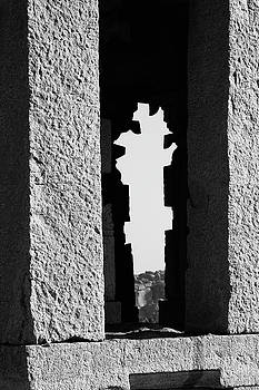 Silhouette of Pillars, Hampi, 2017 by Hitendra SINKAR