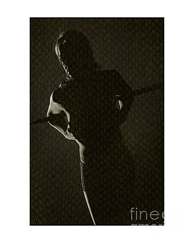 Silhouette of topless girl by Michael Edwards