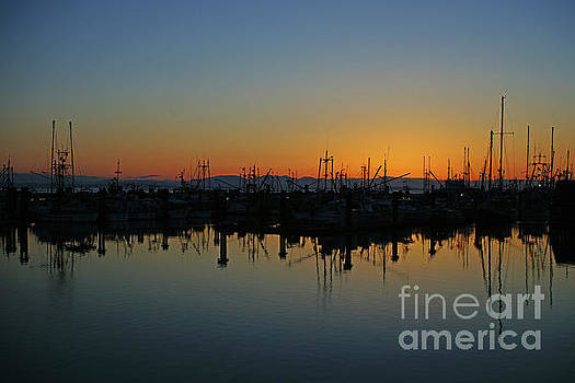 Silhouetted Boats in Steveston by Randy Harris
