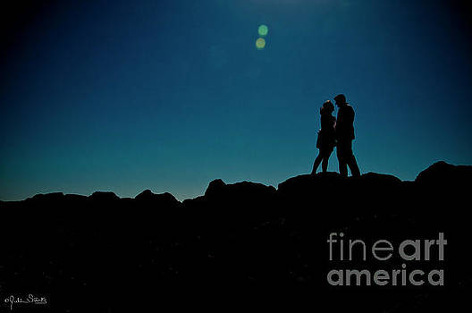Julian Starks - Silhouetted couple in Malibu