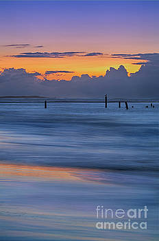 Silky Sunrise Reflections Outer Banks by Dan Carmichael