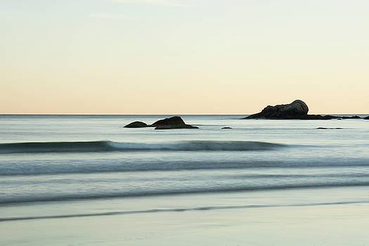 Silky Water and Rocks on the Rhode Island Coast by Nancy De Flon