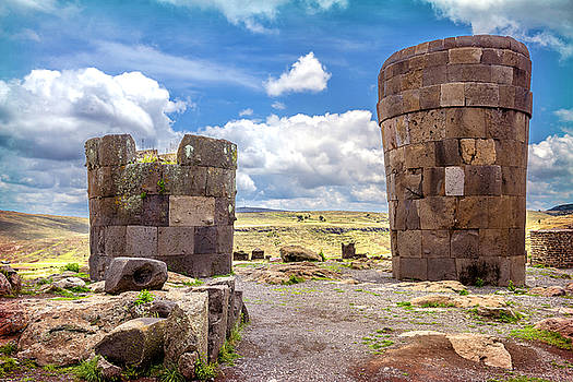 Eduardo Huelin - Sillustani pre Incan burial ground tombs In Puno Peru