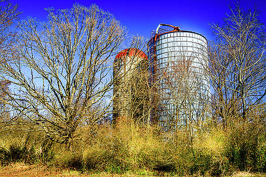Silo Storage - Farm Landscape by Barry Jones
