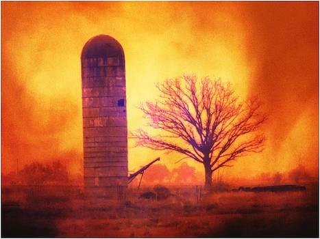 Silo Sunrise by Michael L Kimble