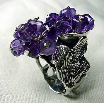 Silver 925 Ring-ametist by Jonatan Kor
