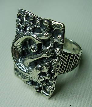 Silver 925 Ring-drago by Jonatan Kor