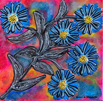 Gina Nicolae Johnson - Silver and Blue
