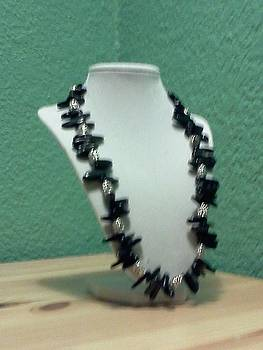 Silver and Jet Necklace by Kendell Tubbs