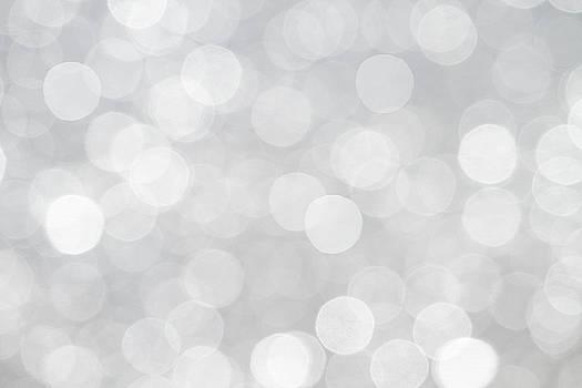 Peggy Collins - Silver Grey Bokeh Abstract
