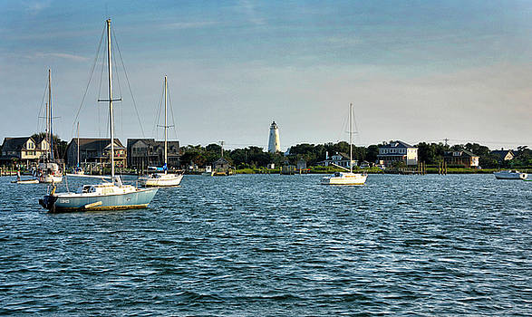 Silver Lake and Ocracoke Island Lighthouse by Brendan Reals