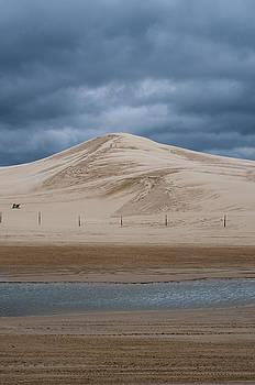 Silver Lake Sand Dunes in Michigan on Stormy Day by Samantha Boehnke