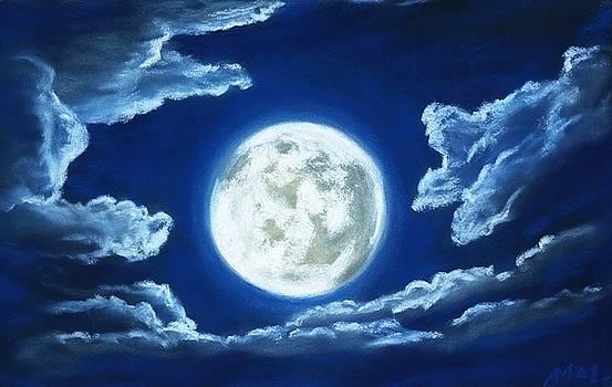 Silver Moon - Sky and Clouds Collection by Anastasiya Malakhova