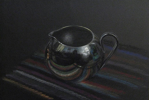 Silver on Stripes by Amy Tennant