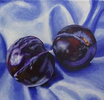 Silver Plums by Melanie Cossey