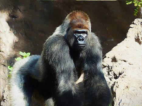 Silverback Gorilla - Painting by Ericamaxine Price
