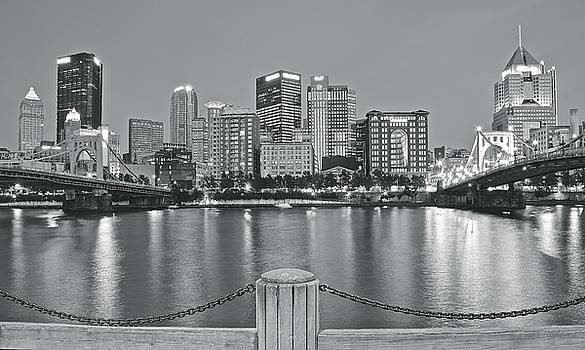 Silvery Lights in Pittsburgh by Frozen in Time Fine Art Photography