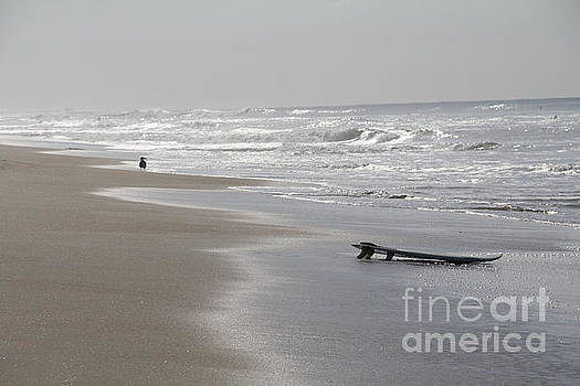 Silvery Morning Huntington Beach by Linda Queally