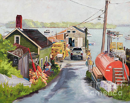 Simmons Lobster Wharf by Lynne Schulte