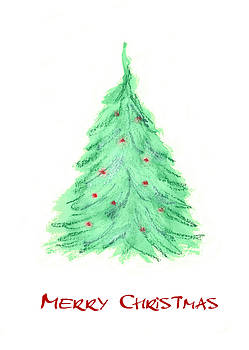 Simple Christmas card 2 by Marna Edwards Flavell