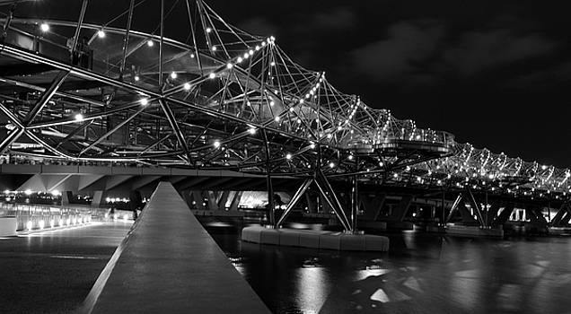Singapore Helix Bridge by Marites Reales