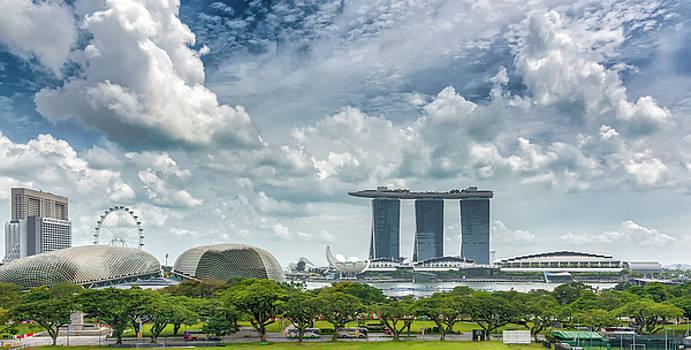 Singapore Panorama by Zina Zinchik