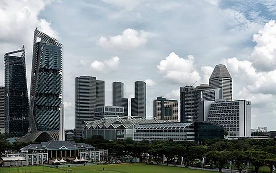 Singapore Recreational Club and Downtown  by Zina Zinchik
