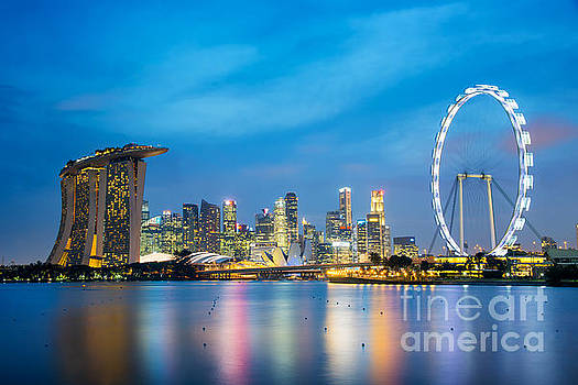 Delphimages Photo Creations - Singapore skyline