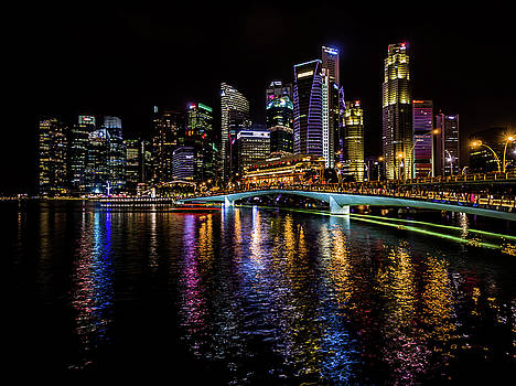 Singapore skyline  by Giles PichelJuan