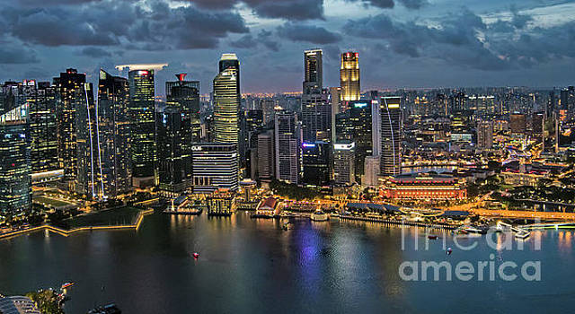 Singapore Skyline by Jim Chamberlain