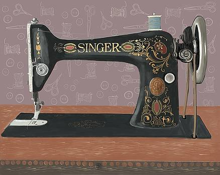 Singer Treadle Sewing Machine by Blenda Studio
