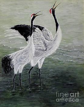 Singing Cranes by Judy Kirouac