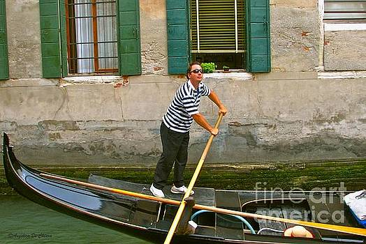 Singing Gondolier -Venice by Italian Art