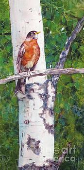 Singing Robin by Bonnie Rinier