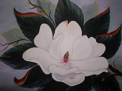 Single Magnolia by Monica Chiasson